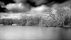 Connaught Water Long Exposure (Les Cornwell Photos) Tags: longexposure 2017 epping connaughtwater mono 10stopper bw blackandwhite lake eppingforest