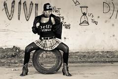 Roberta cool (tarjangz) Tags: roberta woman sexy black white bw cool abandoned pentax