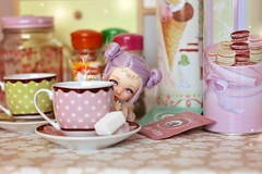 ☆ Hide & Seek  ☆ (Shimiro Kestrel) Tags: bjd doll pukifee ante fairyland pukifeeante tiny tinybjd cute kawaii pastel pastelhair pastelfashion fairy miniature teatime alpacawig bjdphotography bjdportrait bjdcustom abjd balljointeddoll