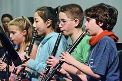 Clarinet section (rachel.roze) Tags: school hanover bandconcert clarinets richmondmiddleschool march2017 performance locky adam janina ava playing