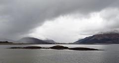 8549 Misty mountains framing Ballachulish bridge (Andy - Busyyyyyyyyy) Tags: 20170318 ccc clouds day9 islet lll lochlinnhe mist mmm reefs rrr scotland sealoch sgeireanshallachain shallachainreefs sss water www