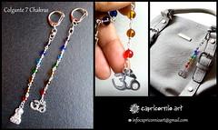 Llavero chakras (soledadcampos) Tags: joyas arte llaveros chakras accesorios capricornioart bijouterie fotografía diseño