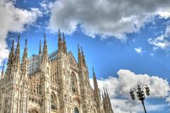 Duomo di Milano in primavera (Roby_BG) Tags: blue sky italy milan clouds milano cielo azzurro hdr duomodimilano milancathedral nuovole