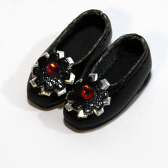Black Retro Flower Slip-On for BJD Dolls Lati Yellow, PukiFee, Riley Kish, Bobobie Nissa, DIM Silf, Dollk S00067F (dollb @ Flickr) Tags: yellow miniature shoes doll tiny bjd leffy accessory latidoll lati abjds tinybjd pukifee dollb