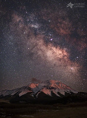 Lunar Alpenglow And Milky Way Skies At West Spanish Peak (Mike Berenson - Colorado Captures) Tags: sky moon mountain snow mountains nature weath