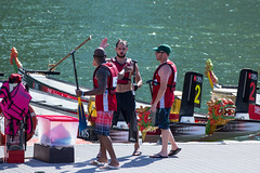 Three paddles in bermuda shorts ! (allenyew) Tags: world nikon singapore canoneos marinabay internationalteam dragonboatcompetition dbsmarinaregatta