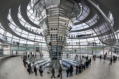 Dome of Reichstag (beeldmark) Tags: building berlin architecture germany ed europa europe zoom interieur fisheye reichstag normanfoster dome if inside smc modernarchitecture architectuur duitsland gebouw berlijn 180degrees koepel rijksdag f3545 modernearchitectuur 1017mm pentaxda smcpentaxda1017mmf3545ediffisheyezoom smcpdafisheye1017mmf3545edif beeldmark 180graden