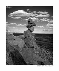Newport (Steve Masiello) Tags: ocean sky bw cloud rock stone nikon rhodeisland newport cliffwalk e7600 stevemasiello stephenmasiello