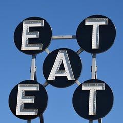 EAT (esywlkr) Tags: sign restaurant maine eat rockport