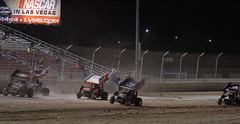 Mark Dobmeier's Flip (2 of 4) - WoO 2013 - Las Vegas, NV (tossmeanote) Tags: world show las vegas cars wheel race canon eos inch track open crash mark wing racing woo dirt flip series motor greatest wreck winged 13 sprint motorsports 70200 outlaws unlucky speedway stp cubic 410 lvms worldofoutlaws 2013 60d greatestshowondirt dobmeier tossmeanote 410ci