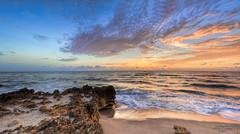 A Panoramic Sunrise [was Explored] (smittysholdings) Tags: ocean usa clouds sunrise florida stuart rockycoast landscapephotography oceanshore canonef2470mmf28 canoneos5dmarkii