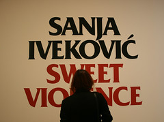 Sweet Violence (Luna Nerea | Daysleeper) Tags: portrait art self canon arte sweet moma violence exposicion sanja ivekovic