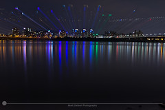 Across the Han River (MarkDeibertPhotography) Tags: city urban water night lights cityscape view zoom korea seoul southkorea urbanscape hanriver