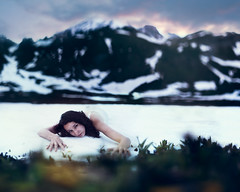 I shut my eyes and all the world drops dead;  I lift my eyes and all is born again (Megan Wilson Photography) Tags: blue red portrait white snow mountains green yellow sarah washington mount rainier ann concept loreth meganwilsonphotography