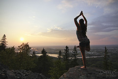 Body,Mind,Spirit (Day Vid Z / ASCENSION Photography) Tags: life trees sunset mountain canada art love yoga pose landscape nice model pretty spirit live health