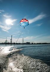 20130815_parasail_3799 (FarFlungTravels) Tags: ohio water boat fly lakeerie parasail parachute sandusky eriecounty lakeerieliving northcoastparasail