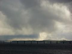 Brooding Sky Over The Firth of Tay (milnefaefife) Tags: bridge sea seascape storm clouds river landscape coast scotland fife dundee perthshire estuary tayrailbridge newportontay firthoftay