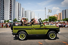 Green jeep (Lil [Kristen Elsby]) Tags: travel topf25 asia jeep military korea parade editorial soldiers topv4444 northkorea reportage koreanwar armistice victoryday pyongyang eastasia dprk travelphotography militaryparade militaryofficers armyjeep democraticpeoplesrepublicofkorea chosŏnminjujuŭiinminkonghwaguk victorydayparade dprofkorea canon5dmarkii