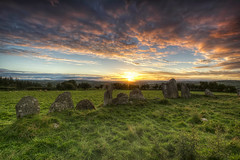 Beltany Stones (Gareth Wray - 12 Million Views, Thank You) Tags: county blue ireland sunset red summer vacation sky irish sun tourism monument field rock stone set standing circle lens landscape photography star countryside site ancient nikon worship rocks day photographer angle cloudy dusk stones side famous horizon country wide scenic landmark visit tourist eire historic clear national fox trust granite fields mystical hd druid colourful nikkor monuments gareth hdr donegal attraction pagan druids mythical tyrone wray beltany raphoe strabane 1024mm d5200 bestcapturesaoi elitegalleryaoi hdfox