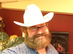 Many Hats of Mike Mozart! Many from my Live Streaming BlogTV Shows and YouTube Toy Review Videos ! (JeepersMedia) Tags: beard cowboy flickr creativecommons mustache cowboyhat jeepersmedia mikemozart