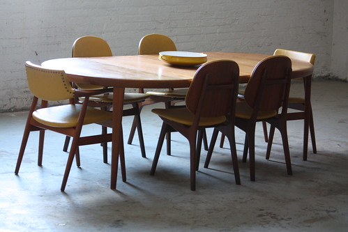 ***ON DECK*** Danish Mid Century Modern Dining Set