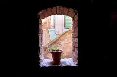 From the dark (Damir Bari - Real estate photographer) Tags: light window stone croatia vase split hrvatska dalmacija dioklecijan palaa mygearandme mygearandmepremium