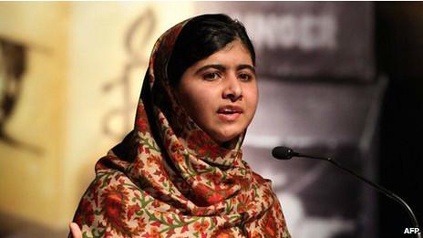 BBC:巴基斯坦女孩马拉拉获萨哈罗夫人权奖