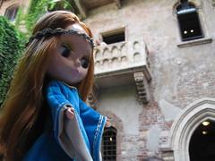 """""""Romeo, Romeo ..... (Calendar girl 48 / grannygreen) Tags: italy balcony maggie verona romeo blythedolls september2013"""