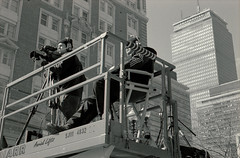 Cameramen (dtanist) Tags: film boston analog square 50mm pentax kodak marathon massachusetts line finish smc ricoh copley cameramen bw400cn pentaxm xrm
