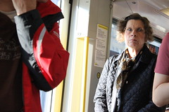 Berliner II (Will Pardoe) Tags: old portrait woman train person tube angry everyday