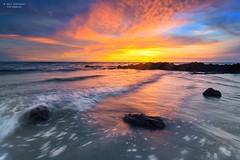 Yellow and Orange (Syafiqjay) Tags: sunset seascape beach landscape nikon tokina monsoon malaysia slowshutter portdickson 1stnovember neutraldensity 2013 gnd8 november2013 syafiqjayphotofibre thorthedarkworld firstnovember byebyeoctober