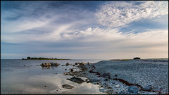 Aurgrund lighthouse (@photobjorn) Tags: morning beach water clouds landscape coast sweden wide wideangle d200 169 fårö tokina12244 apsc colorefex