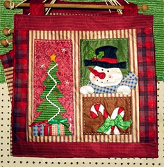 Christmas Wall <s>Hanging</s> (dog.happy.art) Tags: christmas xmas holiday banner decoration fabric quilting quilted hanging decor applique photoshopping