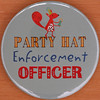 PARTY HAT Enforcement OFFICER (Leo Reynolds) Tags: canon eos iso100 pin badge button squaredcircle 60mm f80 0125sec 40d hpexif 066ev groupbuttons grouppins groupbadges xleol30x sqset101 xxx2013xxx