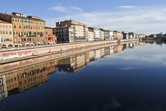 Pisa, Arno river (Alex.Sebastian.H) Tags: city travel blue light sky urban italy panorama holiday reflection building art tourism water beautiful beauty buildings river landscape town reflex nikon aqua europe italia escape village view place postcard palace tourist villages pisa cielo tuscany imagine arno apa toscana turismo palaces vacanze canale watercourse palazzi turism riflesso lungarno emozioni reflectie arnoriver cladiri bellissima bellaitalia vacanta nikond60 privire priveliste watercours palacelit atractieturistica alexsebastianh