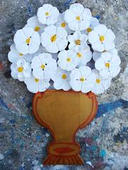 Painel Flores (fabriciabarcelos) Tags: flor eco decoração madeira painel lata artesanatomineiro