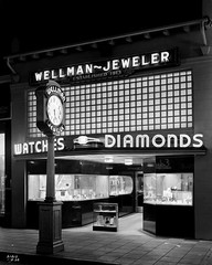 Wellman Jewelers 1939 (JAVA1888) Tags: california old building architecture vintage photo store downtown retro storefront