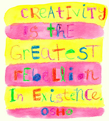 greatest rebellion (dreaming kathleen) Tags: watercolor typography lettering inspirationalquote