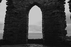 The Lady's Tower (sophie9522) Tags: old sea blackandwhite history monochrome architecture river scotland ruins arch fife ruin historic forth rubble elie firthofforth abandonedscotland