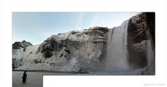Skogarfoss Rift Panorama (OR_U) Tags: winter panorama snow ice water river waterfall iceland photographer oru lunaryuna outofbounds oob 2014 skogarfoss
