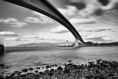 DSC_8124-Edit.jpg (Luminor) Tags: travel bridge sea sky lighthouse skye water clouds landscape scotland blackwhite nikon rocks europe mood availablelight places lee filters isle slowshutterspeed nikond700