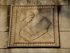 Sculptural Relief: Harms Elementary School--Detroit MI (pinehurst19475) Tags: city school urban architecture architecturaldetail michigan detroit architects sculpturalrelief malcomsonhigginbotham harmselementary 2400centralstreet