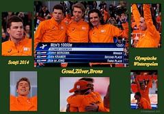 Weer 1,2,3  !!! (ditmaliepaard) Tags: schaatsen goud brons 2014 zilver olympischespelen winterspelen svenkramer bobdejong sotsji jorritbergsma