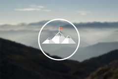 Logo para aplicacin de montaa (guitarraNaln) Tags: mountain logo design asturias summit montaa diseo asturies webapplication langreo llangru mountaneering aplicacinweb