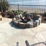 """Greenhaven Landscapes Inc., outdoor lighting, stone patio, stone pavers, grass, lawn, fire pit, fireplace, rock fire place, stone fire pit, outdoor entertainment <a style=""""margin-left:10px; font-size:0.8em;"""" href=""""http://www.flickr.com/photos/117326093@N05/12824813884/"""" target=""""_blank"""">@flickr</a>"""
