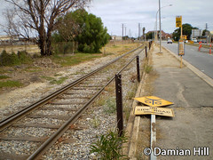 Former Broad Gauge Loop Line, Port Adelaide (baytram366) Tags: road new bridge history look stone port train river for construction closed track factory crossing state south authority transport railway australia trains goods line route birkenhead level points signage both adelaide service passenger osbourne broad glanville railways gauge demolished ways freight connection semaphore crossings factories sleepers penrice stonie