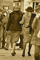 _DSC0680 (petefree Happy New Year) Tags: uk costumes england stockings hat walking fur costume cosplay 1940s ww2 upskirt heels uniforms allrightsreserved pickering warweekend 2013 seamedstockings wartimeweekend pickeringwarweekend pickeringwartimeweekend pellison petefreeman