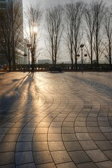 Morning sun (raindog) Tags: morning light london fuji wharf canary hdr x100s
