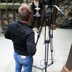 Pia na snemanju nove narodnozabavne oddaje