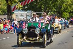 America (Thomas Hawk) Tags: auto california usa car automobile unitedstates flag unitedstatesofamerica americanflag cadillac parade eastbay 4thofjuly piedmont piedmont4thofjulyparade